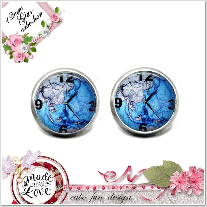 12 mm stud earrings 5 cast colours for choosing UHRMOTIV on LANDKARTE