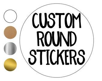 Custom Round Stickers - custom labels - custom clear stickers - Custom Stickers - Logo Stickers - Small Stickers - Large Stickers- Lip Label
