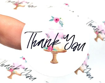 Bakery Box Stickers, Bakery Labels, Bakery Thank You, Bakery Stickers, Thank You Stickers, Cake Stickers, Poly Bag Stickers