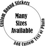 Custom Round Stickers, Custom Labels, Large Stickers, Small Stickers, Multiple Sized Stickers, Office Stickers, Labeling Items, Office Gift