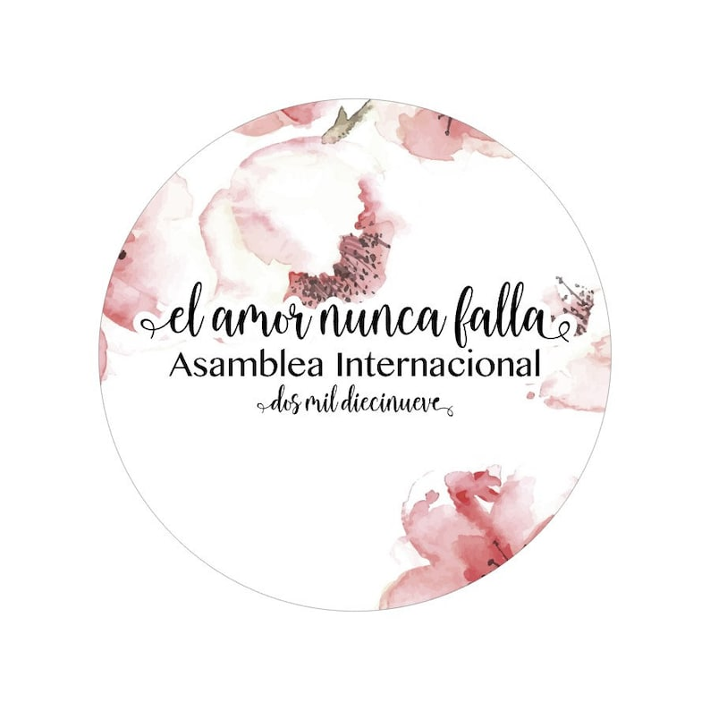 El amor nunca falla, asamblea internacional 2019, Jw, Jw Stuff, calcomanias  internacional, calcomanias para bolsas, amor calcomanias