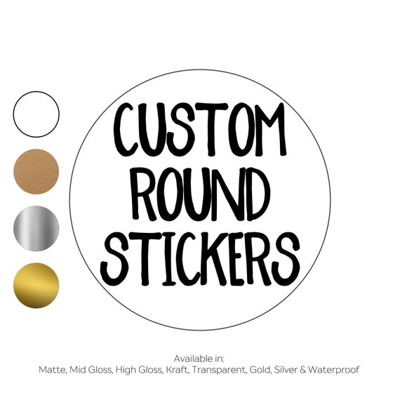 Personalized Waterproof Round Business Labels