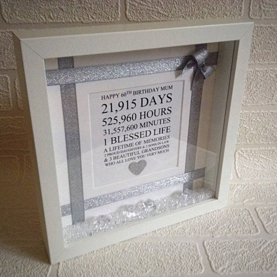 50th Birthday Gift For Mum Friend Keepsake Personalised