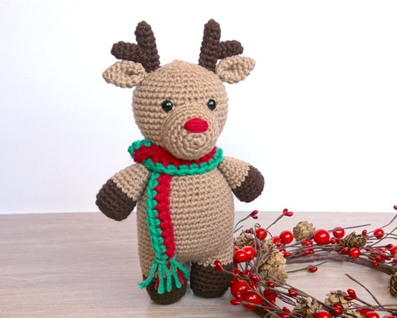 King Cole RUDOLPH Reindeer Toy Yarn Pack Crochet Kit | 456x570