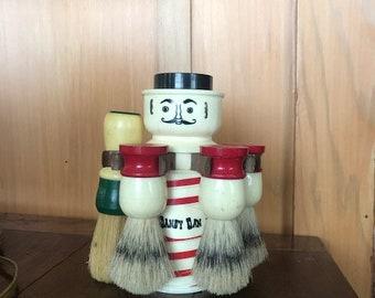 Vintage Dandy Dan Shaving Brush Caddy