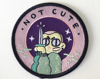 "not cute - 3"" iron-on patch"