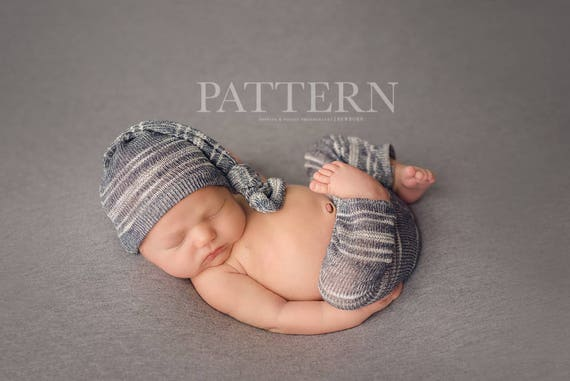 Newborn Pants Pattern Newborn Pants Sleeper Cap And Back Etsy
