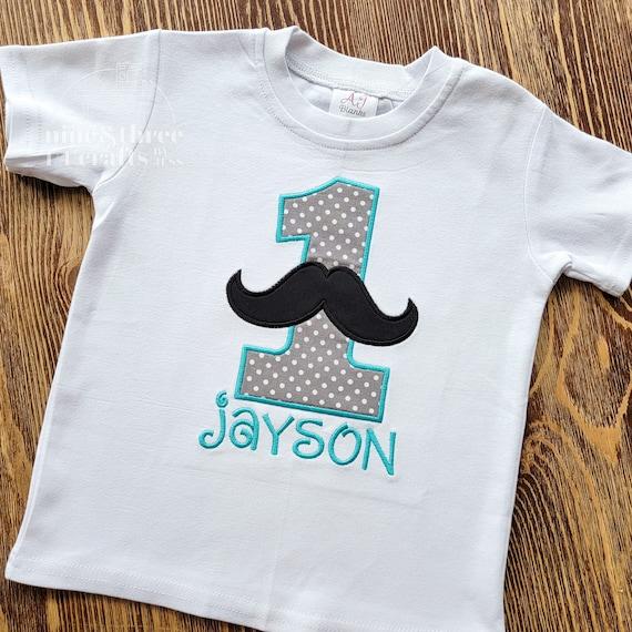 Mustache Birthday Embroidery Shirt