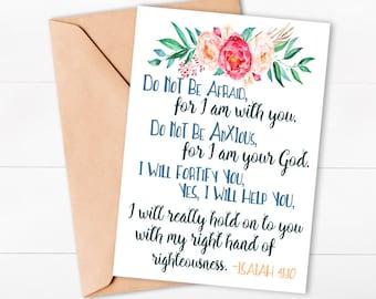 Isaiah 41:10 Scripture Card Printable inspirational card bible verse bible verse card printable