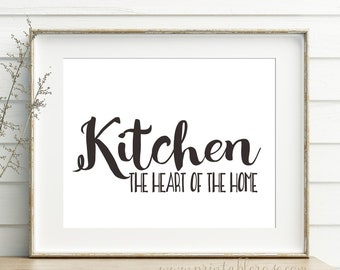 Kitchen Decor Printable Kitchen Signs Kitchen Sign Prints Etsy