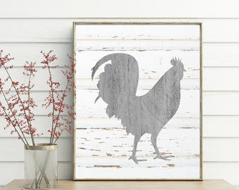Rooster Decor, printable, farmhouse, french country, rooster kitchen decor, kitchen decor, rooster wall art, rooster wall decor, rooster art