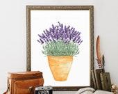 Lavender Decor, wall art printable, french country wall art, bathroom wall decor, lavender digital, garden wall art, wall art print, purple
