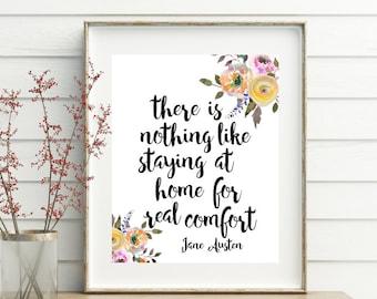 Jane Austen, printable, printables, jane austen gifts, jane austen quote, print quotes, printable quotes, home decor, wall art, wall decor