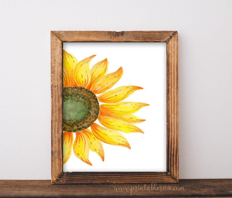 image about Sunflower Printable known as Sunflower Decor, sunflower printable, sunflower print, sunflower consider, sunflower wall decor, sunflower wedding ceremony decor, sunflower prints