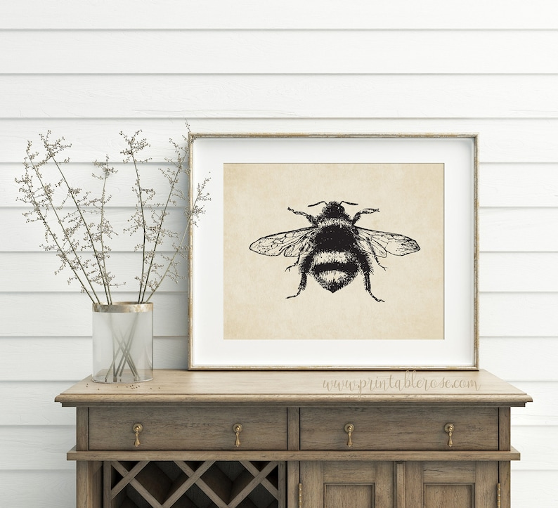 French Country Decor Bee Printable Bathroom Wall Decor Wall Art Prints Bathroom Wall Art Bee Print Wall Art Printable Bee Decor Bee