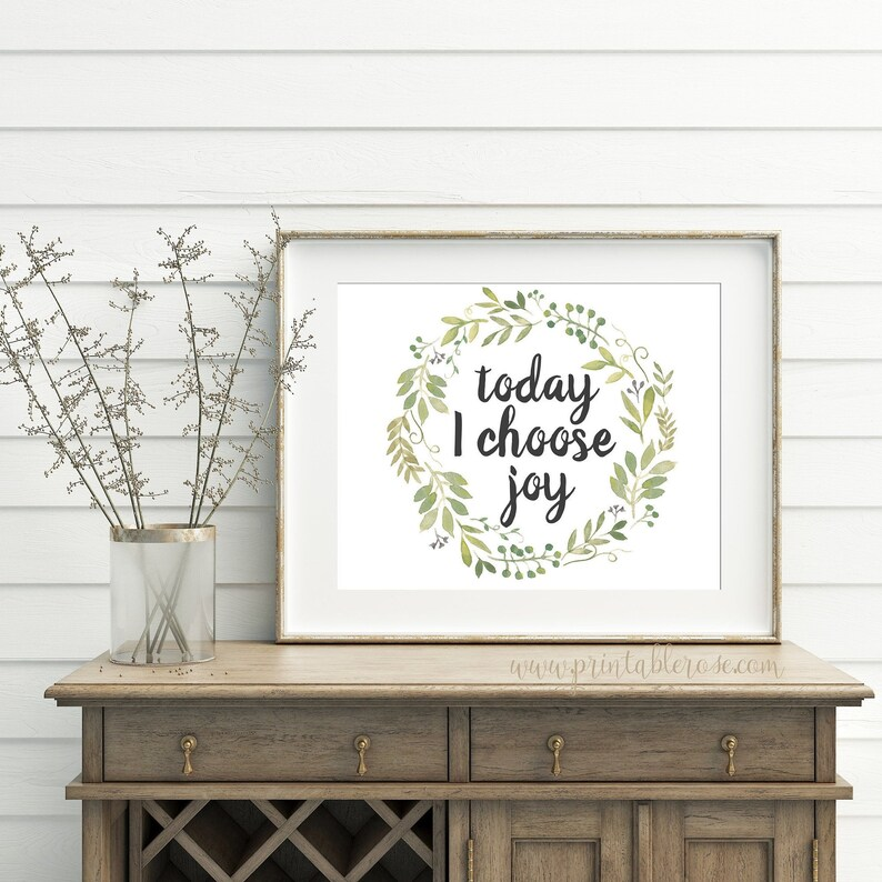 Printable Quotes Printable Wall Art Today I Choose Joy Wall Etsy