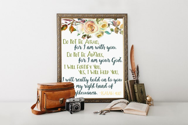 isaiah 41 10 scripture gifts printable scriptures scripture etsy