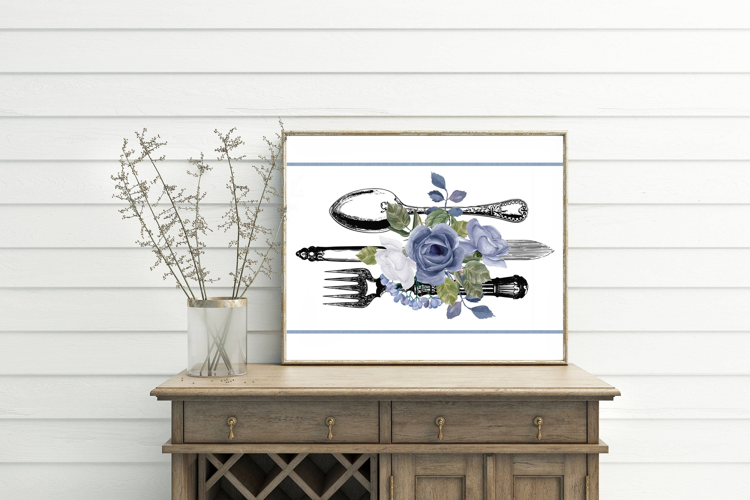 Dining Room Wall Art Printable, Vintage Wall Art For Dining Room