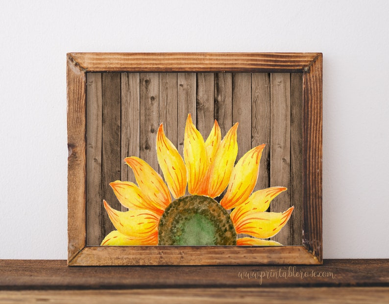 graphic about Printable Pictures of Sunflowers identified as Sunflower decor, sunflower printables, picket wall artwork, farmhouse decor, sunflower printable, sunflower, sunflowers, rustic house decor, tumble