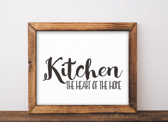 Kitchen Decor Printable Farmhouse Kitchen Signs Kitchen Etsy