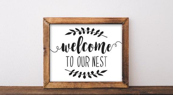 Teken boerderij afdrukbare dat onze nest teken onze nest etsy