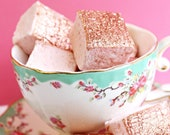 Rose Gold Rosé Handmade Marshmallows (set of 12) // edible glitter - marshmallow - s'more - s'mores - hot chocolate - cocoa champagne