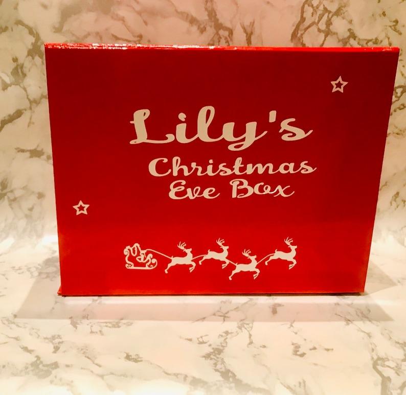 Christmas gift box Christmas Eve Box Red Gift Box Gift box for Christmas Eve