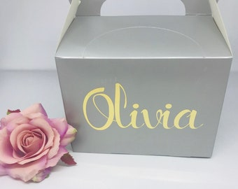 personalised boxes, Party Boxes, gift boxes for bridesmaids, Childs party box, gift box, wedding box, wedding ideas,
