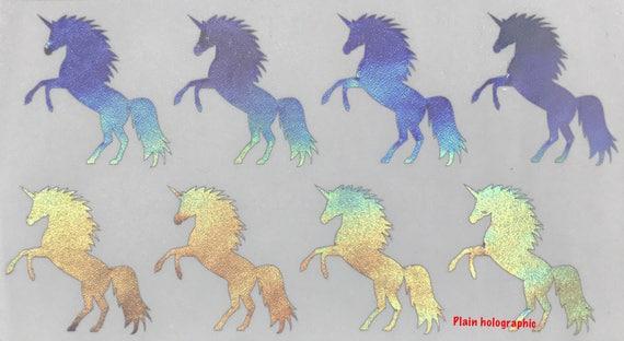 Holographic Unicorn Stickers Unicorn Stickers Laptop Vinyl Rose Gold Stickers