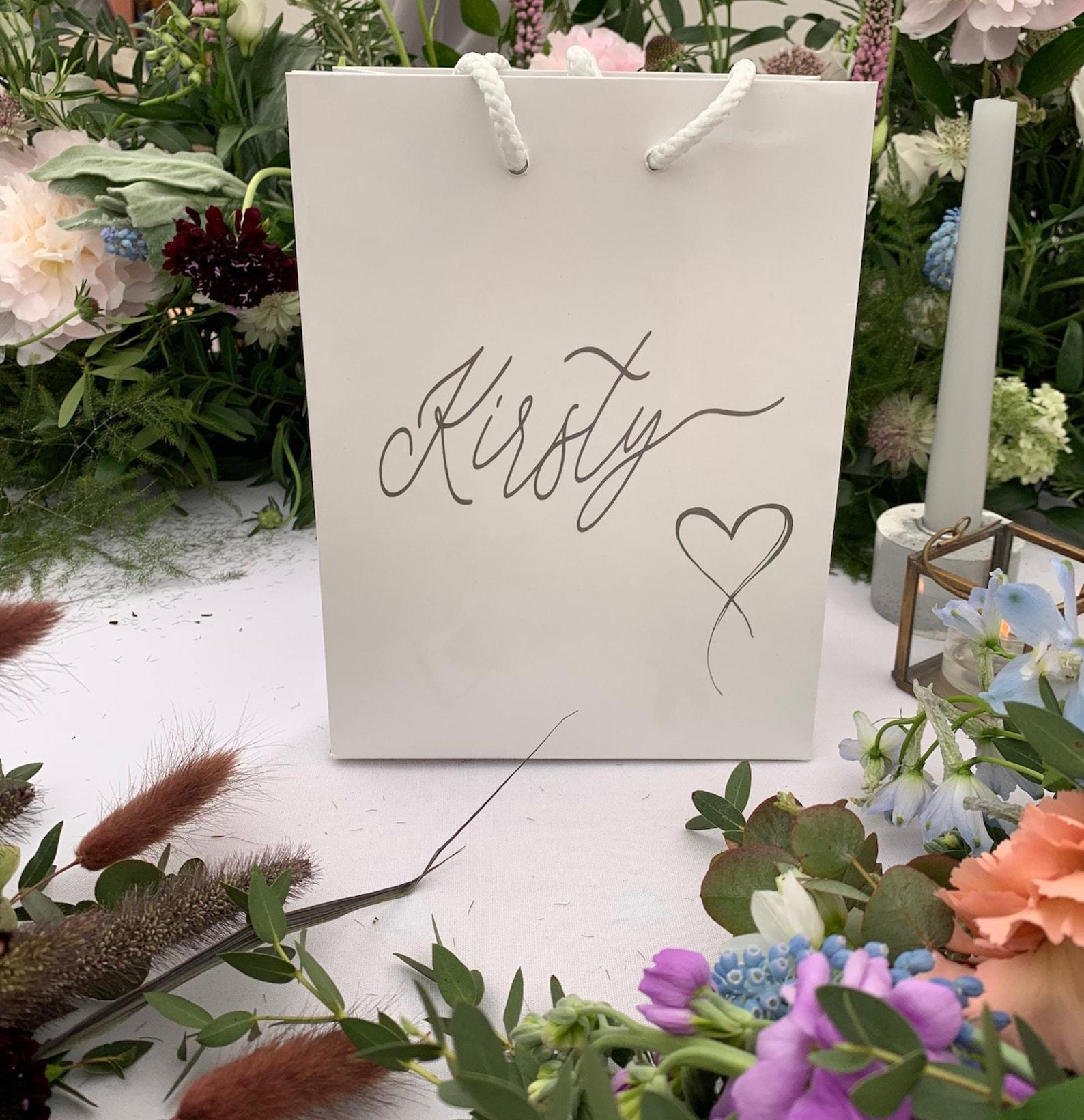 Personalised gift bag - heart