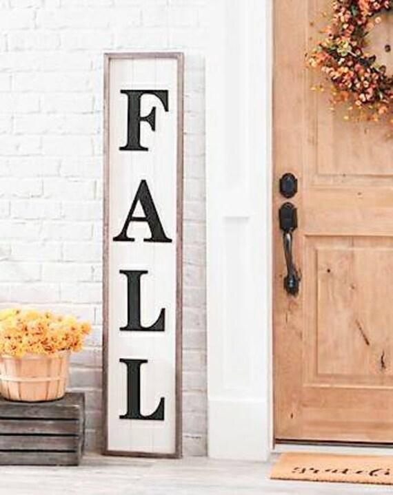 Grand hall d\'entrée d\'automne ferme signe - porche Bienvenue signe ...