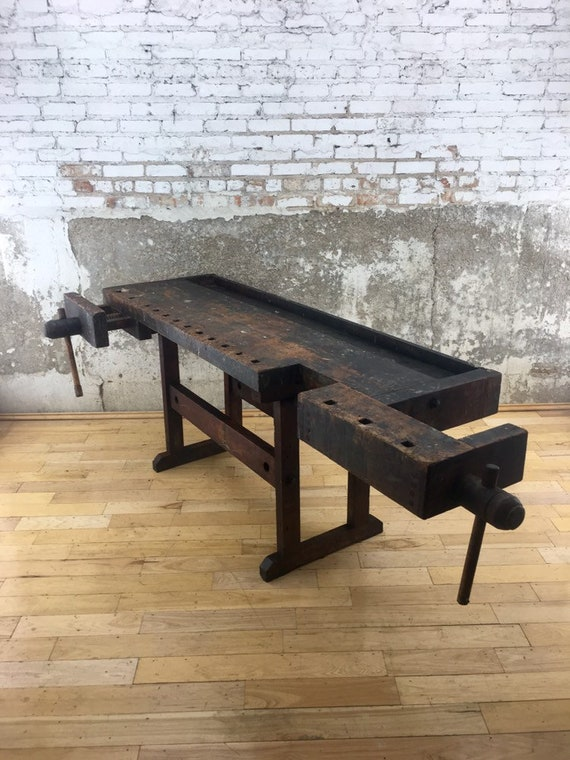 Super Antique Wood Workers Carpenters Bench Kitchen Island Gmtry Best Dining Table And Chair Ideas Images Gmtryco