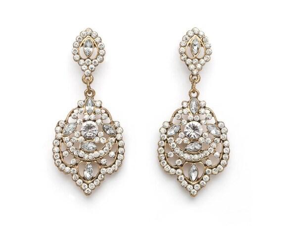 Gold Vintage Chandelier Earrings, Gold Chandelier Earrings, Vintage  Chandelier Earrings, , Bridesmaid Earrings, Wedding Earrings, Bridal - Gold Vintage Chandelier Earrings Gold Chandelier Earrings Etsy