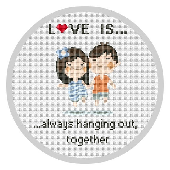 LOVE ISCross Stitch Pattern PDF Counted Cross