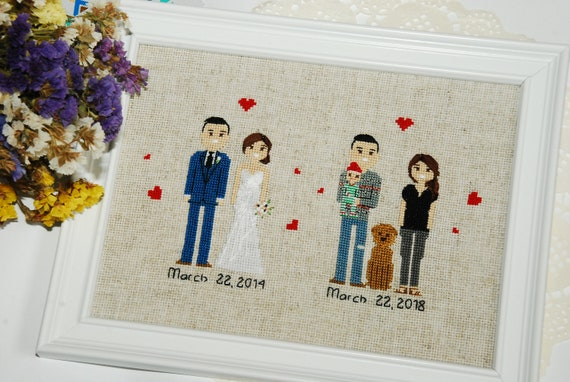 5th Anniversary Gift For Husband Or Wife Custom Family Etsy
