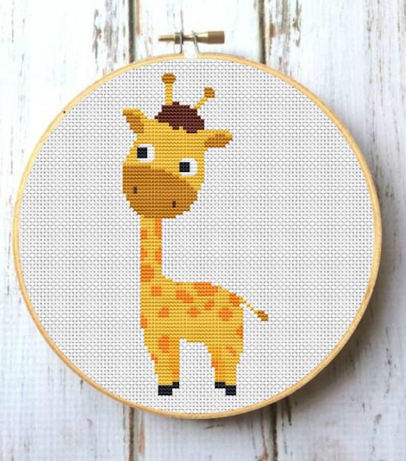 89fc2807a37f Baby Giraffe Nursery Cross Stitch Pattern Safari animals   Etsy