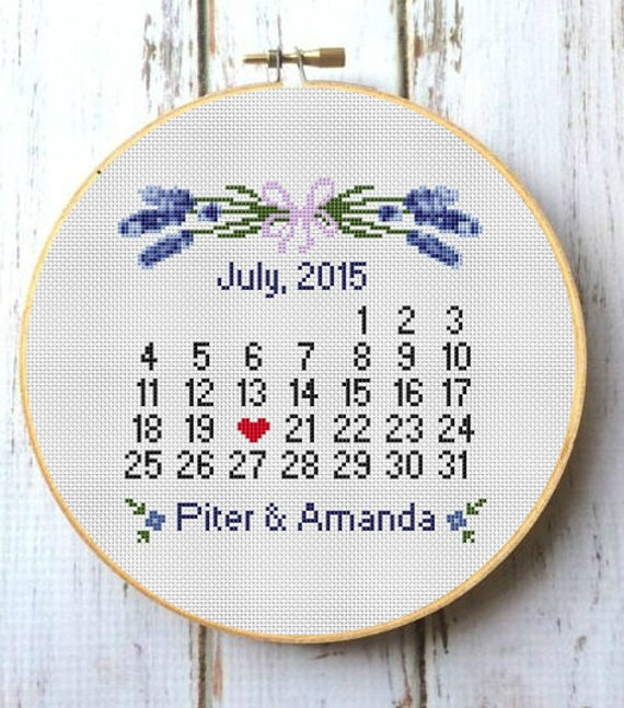 2fccc07dc26fc Custom cross stitch wedding Personalized wedding Lavender