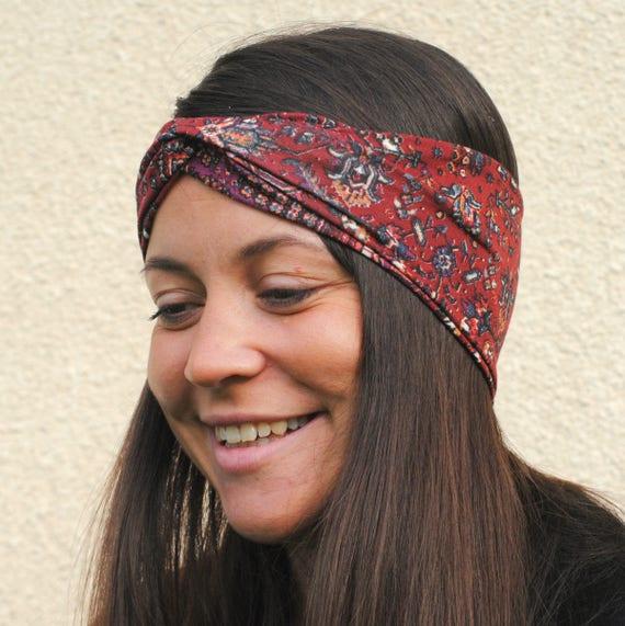 Tribal headband Aztec Headband Boho headband Hippie  c7819da7513