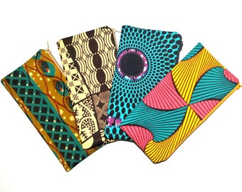 African Pouch, Colorful Pouch, African Wallet, Small Makeup Bag, African Cosmetic Bag, African Toiletry Bag, Money Purse, Hippie Pouch