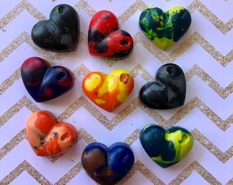 Love Heart Rainbow Crayons