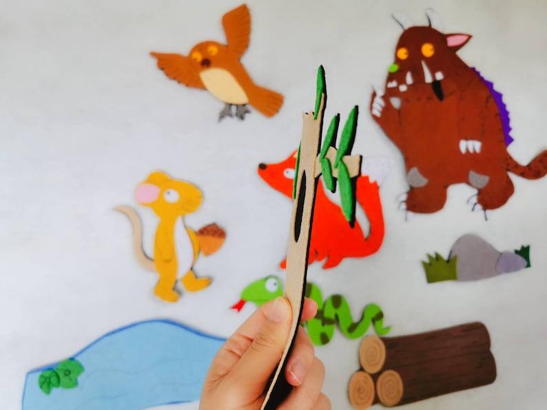 The Gruffalo Finger PuppetsFlannel boardFelt StoryECEPreschoolCircle TimeStory timeTeacher ResourceCreative playkid giftHomeschool