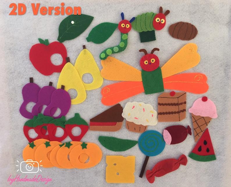 5f2397831fb7 The Very Hungry Caterpillar Felt Food Set Felt Board Activity