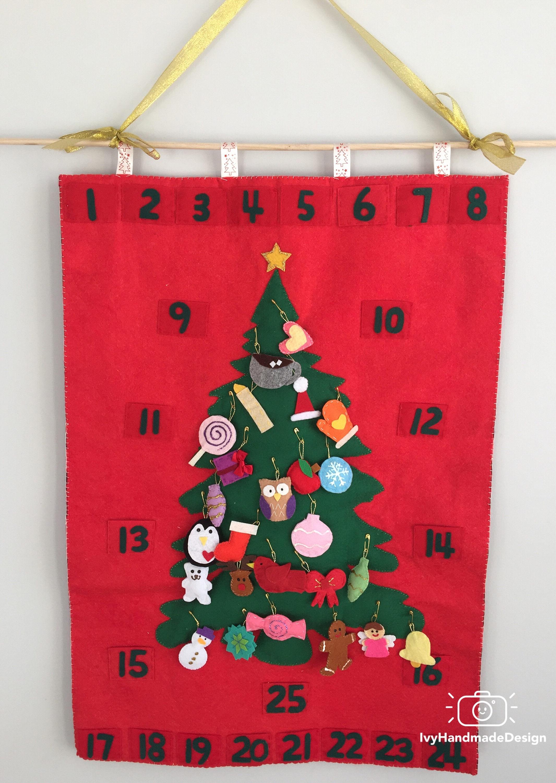 Weihnachtsbaum-Adventskalender Filz mit | Etsy