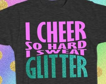 I CHEER so Hard I sweat GLITTER cheerleader love cheer cheerleading SVG  Design File 6c5e3c120ad3