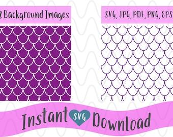 Scallop Pattern SVG, Mermaid Pattern Svg, Shell Background Pattern SVG, SVG Design File, Cut File Silhouette and Cricut