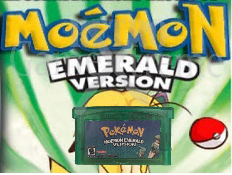 Pokemon Moemon Emerald fan made hack GBA
