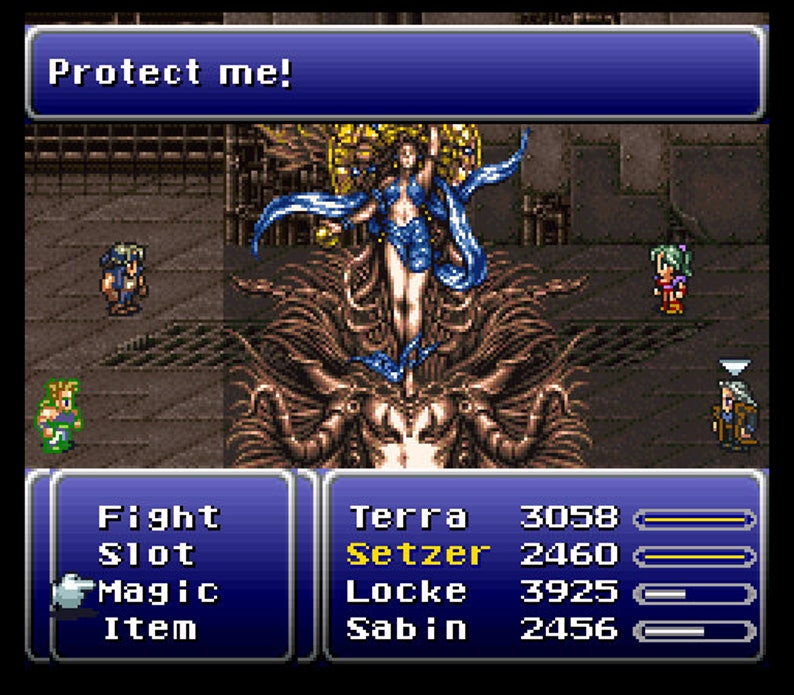 Final Fantasy III fan made reproduction game cartridge Super Nintendo SNES  English translated