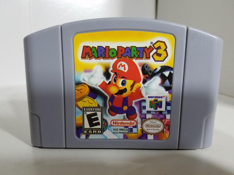 Mario Party 3 fan made reproduction game cartridge N64 Nintendo 64