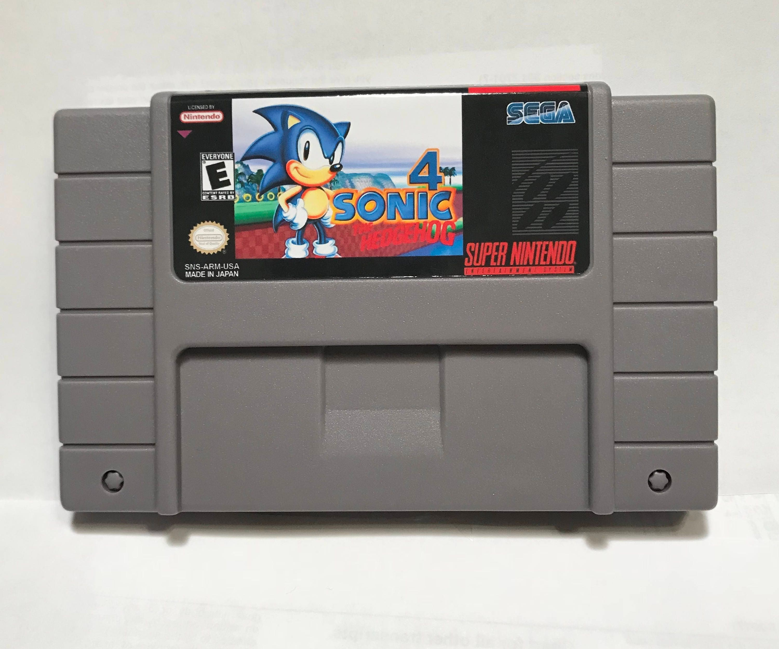 Sonic The Hedgehog 4 Fan Made Hack Reproduction Super Nintendo Etsy