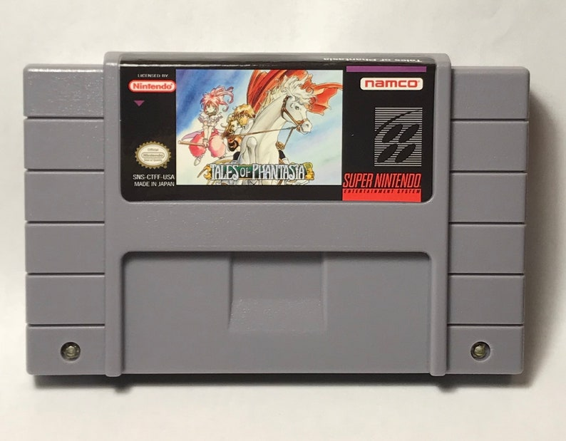 Tales of Phantasia fan made reproduction game SNES Super Nintendo saves